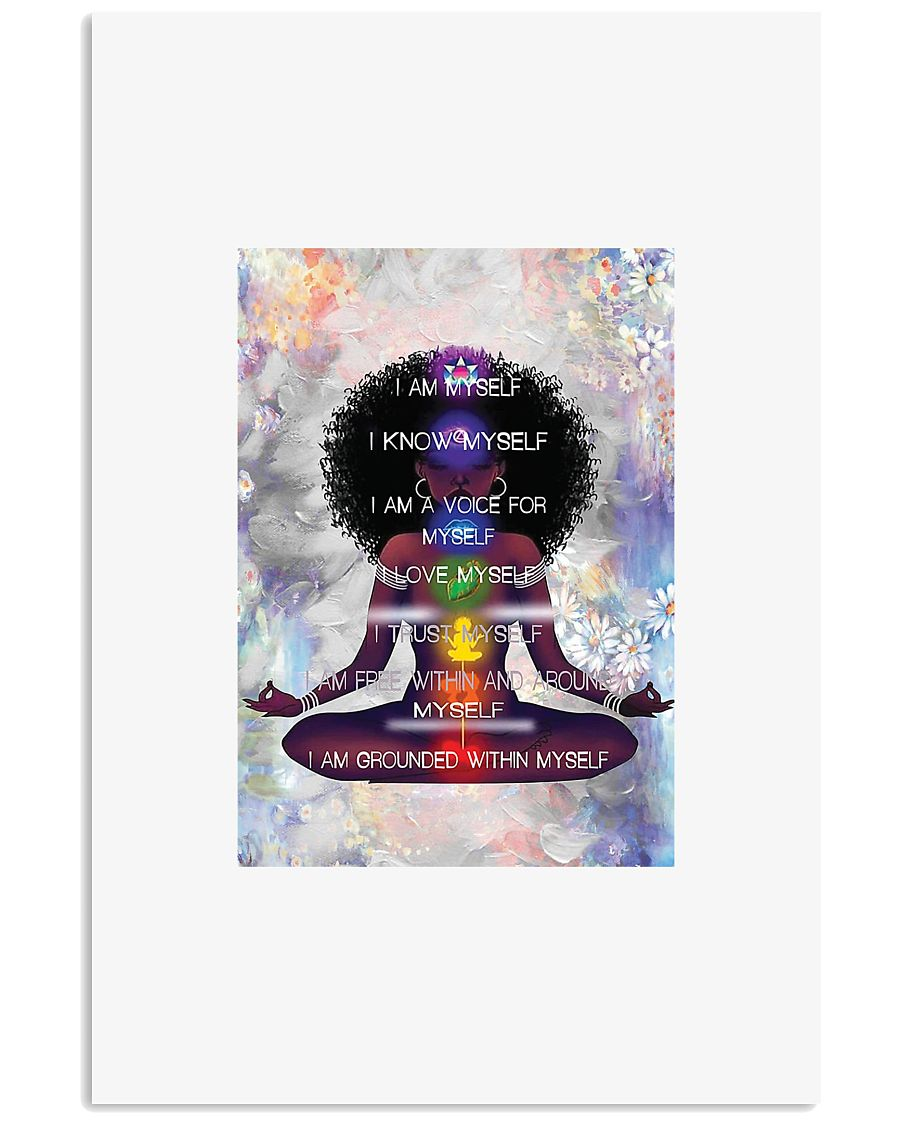 Yoga i am myself i know myself i am a voice for my 11x17 Poster