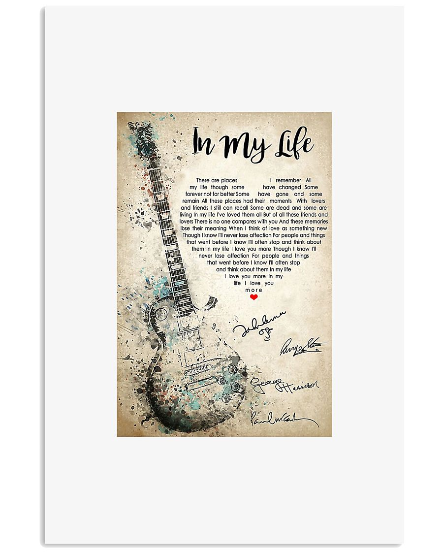 Guitar in my life there are places i remember post 11x17 Poster