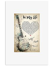 Guitar in my life there are places i remember post 11x17 Poster front