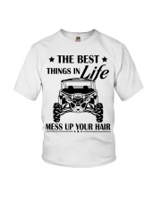 The best things in life mess up your hair shirt Youth T-Shirt thumbnail