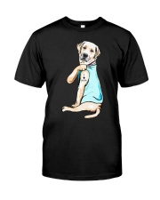 Golden Retriever i love mom tattoo shirt Classic T-Shirt front