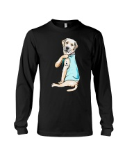 Golden Retriever i love mom tattoo shirt Long Sleeve Tee thumbnail