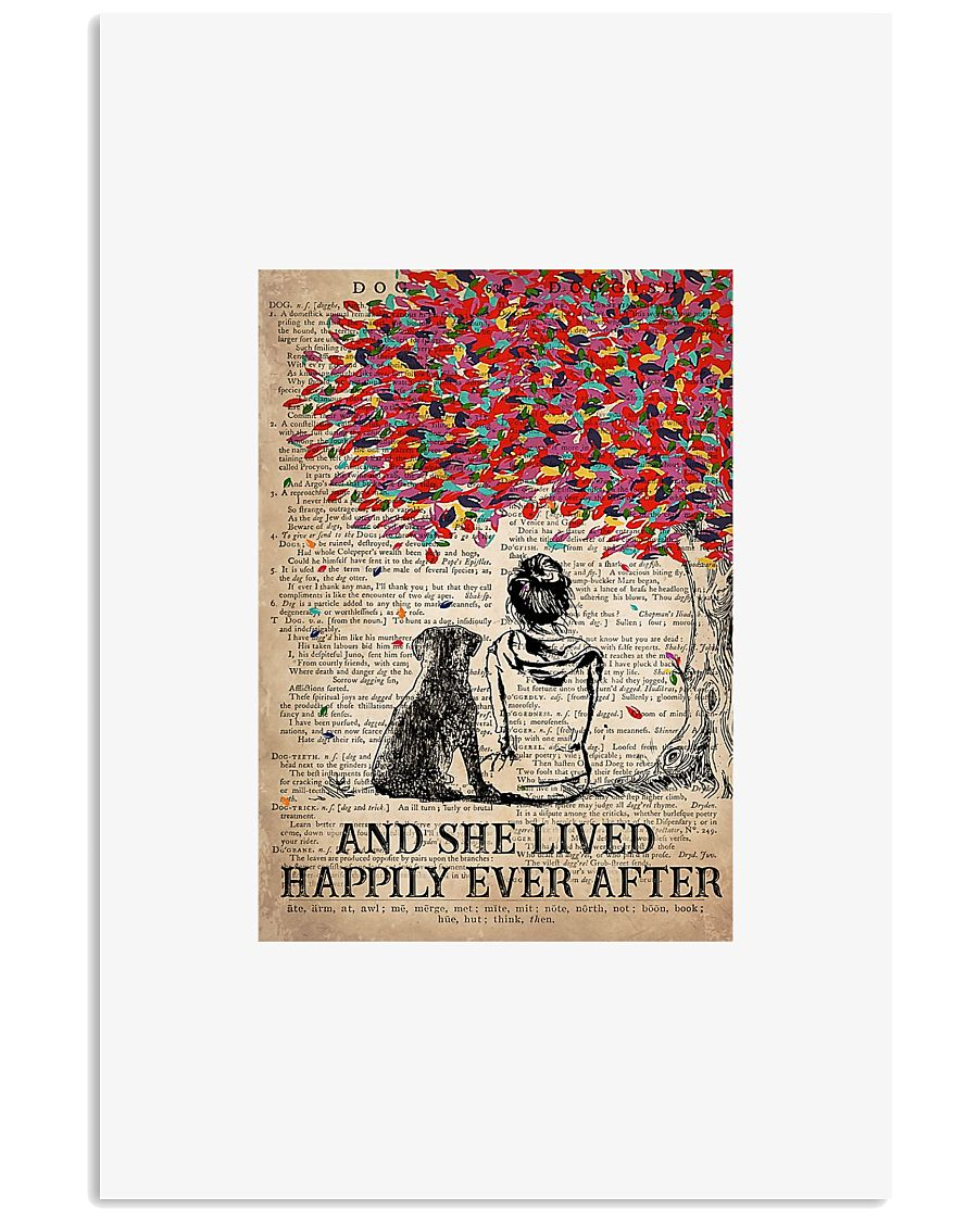 Girl and dog and she lived happily ever after post 11x17 Poster