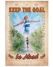 Running Keep The Goal Vertical Poster tile
