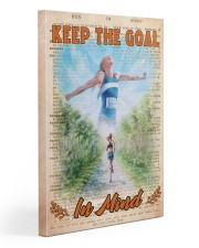 Running Keep The Goal Gallery Wrapped Canvas Prints tile
