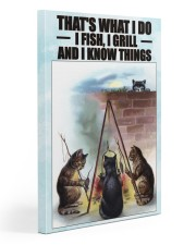 Fishing and Know Things Gallery Wrapped Canvas Prints tile