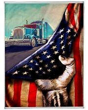 """blanket 5 trucker Large Fleece Blanket - 60"""" x 80"""" front"""