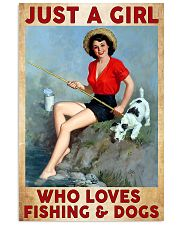Love Fishing and Dogs 11x17 Poster front