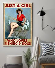 Love Fishing and Dogs 11x17 Poster lifestyle-poster-1