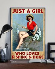 Love Fishing and Dogs 11x17 Poster lifestyle-poster-2