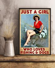 Love Fishing and Dogs 11x17 Poster lifestyle-poster-3