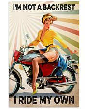Motorcycle I'm Not A Backrest 11x17 Poster front