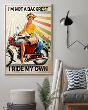 Motorcycle I'm Not A Backrest 11x17 Poster lifestyle-poster-1
