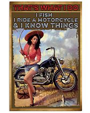 Biker fishing  11x17 Poster front