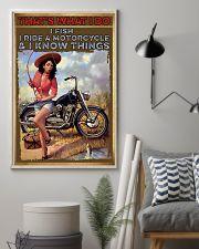 Biker fishing  11x17 Poster lifestyle-poster-1