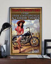 Biker fishing  11x17 Poster lifestyle-poster-2