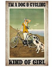 Cycling poster 11x17 Poster front