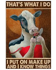Put on makeup 24x36 Poster front