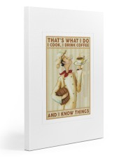 Chef poster Gallery Wrapped Canvas Prints tile