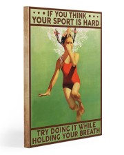 Swimming Hold Your Breath Gallery Wrapped Canvas Prints tile
