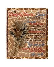 "Giraffe Quilt 40""x50"" - Baby front"