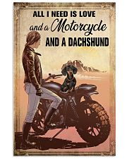 Motorcycle and Dachshund 11x17 Poster front