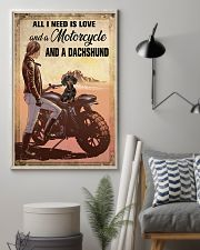 Motorcycle and Dachshund 11x17 Poster lifestyle-poster-1