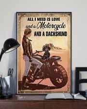 Motorcycle and Dachshund 11x17 Poster lifestyle-poster-2