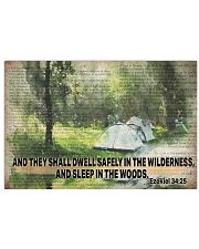 Camping poster 17x11 Poster front