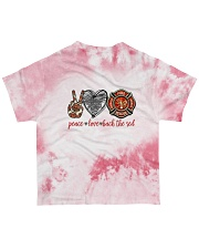 firefighter peace live back the red All-over T-Shirt back