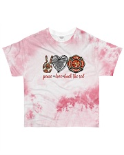 firefighter peace live back the red All-over T-Shirt front