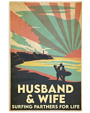 Surfing Partners For Life Vertical Poster tile