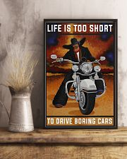 Biker Life Is Too Short 24x36 Poster lifestyle-poster-3