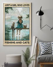 Love Fishing and Cats 11x17 Poster lifestyle-poster-1