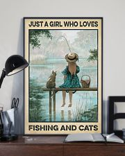Love Fishing and Cats 11x17 Poster lifestyle-poster-2