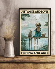 Love Fishing and Cats 11x17 Poster lifestyle-poster-3