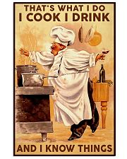Chef Cook Drink and Know Things 11x17 Poster front