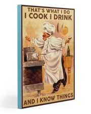 Chef Cook Drink and Know Things Gallery Wrapped Canvas Prints tile