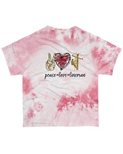 Lineman peace love lineman All-over T-Shirt back