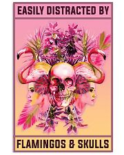 Flamingos and Skulls 11x17 Poster front