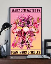 Flamingos and Skulls 11x17 Poster lifestyle-poster-2