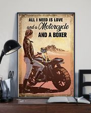 Motorcycle and Boxer 11x17 Poster lifestyle-poster-2