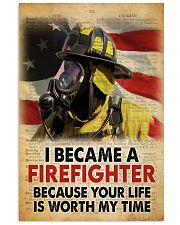 Became a Firefighter 24x36 Poster front