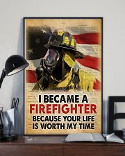 Became a Firefighter 24x36 Poster lifestyle-poster-2