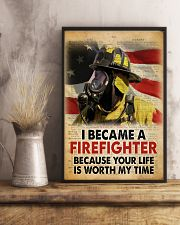 Became a Firefighter 24x36 Poster lifestyle-poster-3