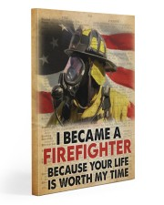 Became a Firefighter Gallery Wrapped Canvas Prints tile