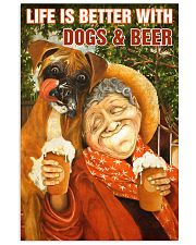 Life is better with Dogs and Beer Vertical Poster tile