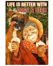 Life is better with Dogs and Beer 24x36 Poster front