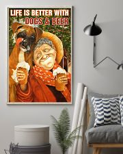 Life is better with Dogs and Beer 24x36 Poster lifestyle-poster-1