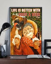Life is better with Dogs and Beer 24x36 Poster lifestyle-poster-2